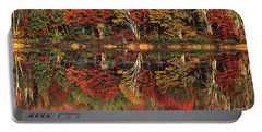 Portable Battery Charger featuring the photograph Fall Color Reflected In Thornton Lake Michigan by Dave Welling