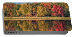 Fall Colors In Cabin Country Portable Battery Charger by Paul Freidlund