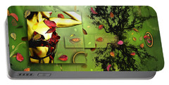 Portable Battery Charger featuring the digital art Fall Colors by Nola Lee Kelsey