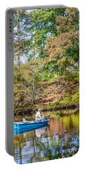 Portable Battery Charger featuring the photograph Fishing Reflection by Debbie Green