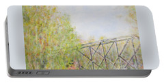 Fall Foliage And Bridge In Nh Portable Battery Charger