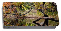 Fall From The Water Portable Battery Charger by Holly Blunkall