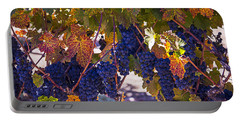 Fall Grape Harvest Portable Battery Charger