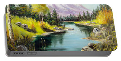 Fall In The Rockies Portable Battery Charger by Lee Piper