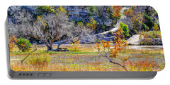 Fall In The Texas Hill Country Portable Battery Charger by Savannah Gibbs