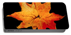 Portable Battery Charger featuring the photograph Fall Leaf Trio by Dee Dee  Whittle