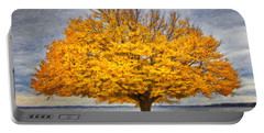 Fall Linden Portable Battery Charger by Verena Matthew