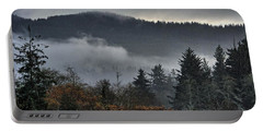 Fall Low Clouds And Fog Portable Battery Charger