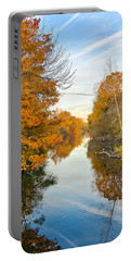 Fall On The Red Cedar  Portable Battery Charger