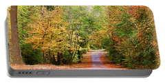 Portable Battery Charger featuring the photograph Fall Pathway by Judy Vincent