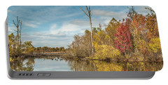 Portable Battery Charger featuring the photograph Fall Pond by Debbie Green