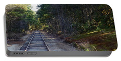 Fall Railroad Track To Somewhere Portable Battery Charger