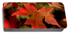Fall Red Beauty Portable Battery Charger