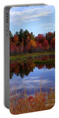 Fall Reflections Portable Battery Charger by Kerri Mortenson