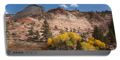 Portable Battery Charger featuring the photograph Fall Season At Zion National Park by John M Bailey