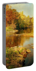 Fall Time At Rum River Portable Battery Charger by Lucinda Walter