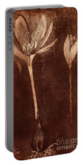 Fall Time - Autumn Crocus Meadow Safran Portable Battery Charger