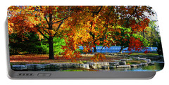 Fall Trees Landscape Stream Portable Battery Charger