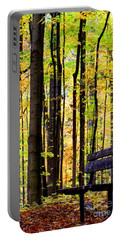 Fall Woods In Michigan Portable Battery Charger