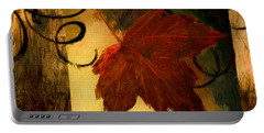 Fallen Leaf Portable Battery Charger by Lourry Legarde