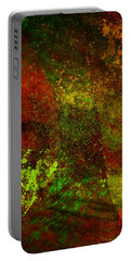 Portable Battery Charger featuring the mixed media Fallen Seasons by Ally  White