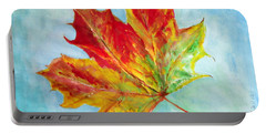 Falling Leaf - Painting Portable Battery Charger