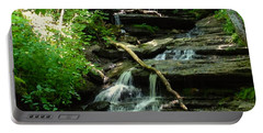 Portable Battery Charger featuring the photograph Falling Water by Alan Lakin