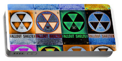 Fallout Shelter Mosaic Portable Battery Charger by Stephen Stookey