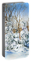 Family Of Four Trailside At 7 Springs Portable Battery Charger by Barbara Jewell