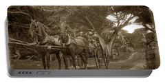 Family Out Carriage Ride On The 17 Mile Drive In Pebble Beach Circa 1895 Portable Battery Charger