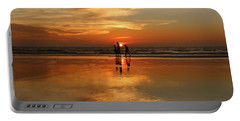 Family Reflections At Sunset -3  Portable Battery Charger