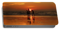 Family Reflections At Sunset - 1 Portable Battery Charger