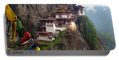 Famous Tigers Nest Monastery Of Bhutan 10 Portable Battery Charger