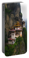 Famous Tigers Nest Monastery Of Bhutan Portable Battery Charger by Lanjee Chee