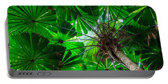 Fan Palm Tree Of The Rainforest Portable Battery Charger