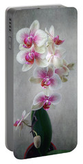 Fancy Orchids Portable Battery Charger by Louise Kumpf