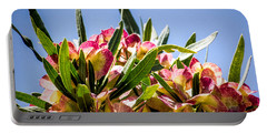 Fanned Flowers Portable Battery Charger