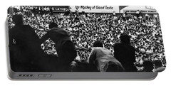 Fans In The Bleachers During A Baseball Game At Yankee Stadium Portable Battery Charger