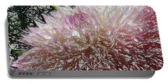 Portable Battery Charger featuring the photograph Fantasy Dahlia by Denyse Duhaime