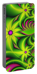 Portable Battery Charger featuring the digital art Fantasy Flowers by Gabiw Art
