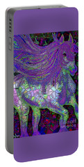 Fantasy Horse Purple Mosaic Portable Battery Charger