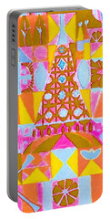 Portable Battery Charger featuring the painting Fantasy In Form by Beth Saffer