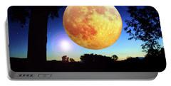 Fantasy Moon Landscape Digital Art Portable Battery Charger