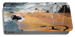 Portable Battery Charger featuring the painting Faraway Lejanias by Lazaro Hurtado