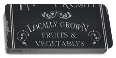 Farm Fresh Sign Portable Battery Charger by Debbie DeWitt