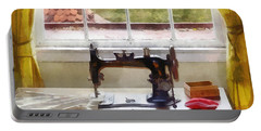 Farm House With Sewing Machine Portable Battery Charger