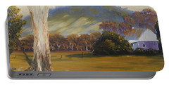 Farm With Large Gum Tree Portable Battery Charger