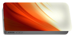 Glowing Orange Abstract Portable Battery Charger