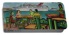 Fat Tuesdays In Cozumel Yucatan Mexico Portable Battery Charger by Frank Hunter