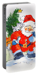 Father Christmas And Kittens, 1996  Portable Battery Charger